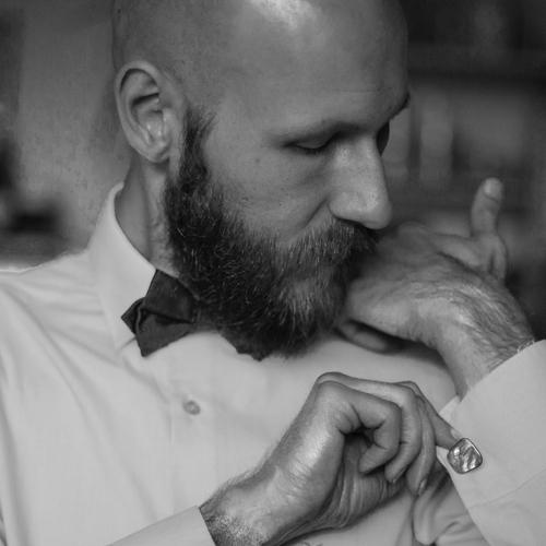 Portrait, Man, Bow Tie, Cufflink
